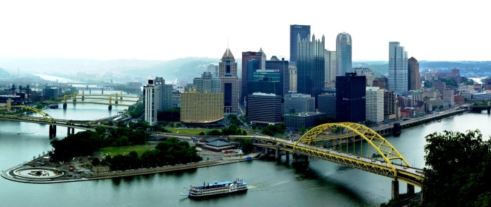 Pittsburgh, PA. View from observation deck.