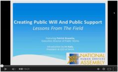 Creating Public Will & Support
